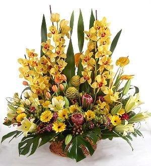 Kuching florist   Mixed Flower Basket -6WB7_Quinsy