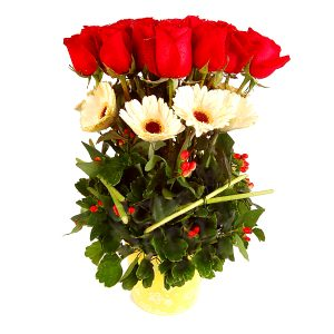 birthday rose bouquet malaysia - Loving Amoree roses daisies flower bouquet