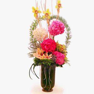 bouquet shop kuala lumpur malaysia - HYDRA MIRAYAH cymbidium orchid lilies hydrangea flower bouquet