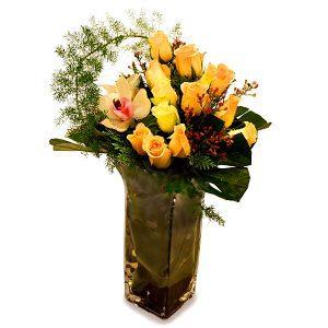 bouquet shop malaysia - Carria Love rose cymbidium flower bouquet