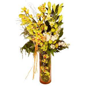 bouquet shop shah alam malaysia - ROYAL CENTENNIAL cymbidium orchids, lilies flower bouquet