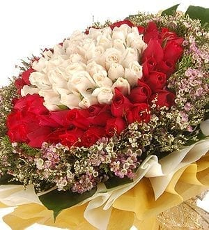 99 Roses is Love Forever Bouquet Malaysia