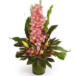 anniversary flower arrangements malaysia - DELIA LOVE cymbidium orchids lilies flower bouquet