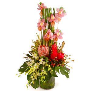 beautiful flower arrangements malaysia - LOVE MANHATTAN cymbidium orchids ginger flowers bouquet