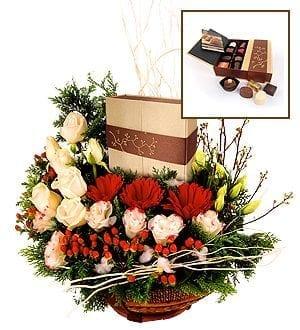 flower and chocolate gift baskets - Chocolate Gifts - Paffenwinkel Decadence