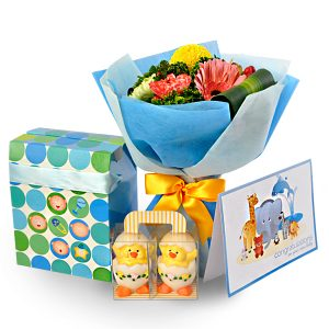 Baby Gift delivery KL Malaysia - My First Hatched Baby Duckies Gift for Newborn
