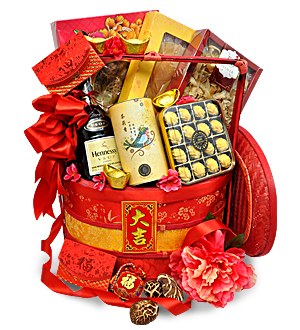 Chinese New Year Hamper Basket Abundantly Online