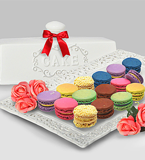 Birthday Cake Macarons Delivery Online Florist Malaysia