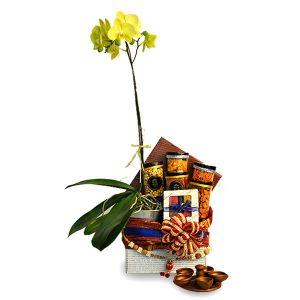 Diwali Gift Delivery Petaling Jaya Malaysia - TARNIP ORCHID - VEGETARIAN DEEPAVALI HAMPER