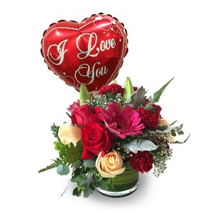 Valentine Day Flower Delivery Malaysia - LOVE YOU ONLY VALENTINE