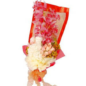 Bouquet Delivery Petaling Jaya Malaysia - GRACEFUL cymbidium orchids roses hand bouquet