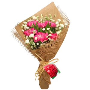 Flower Bouquet Petaling Jaya Malaysia - hand bouquet Merry CarnationsFlower Bouquet Petaling Jaya Malaysia – hand bouquet Merry Carnations