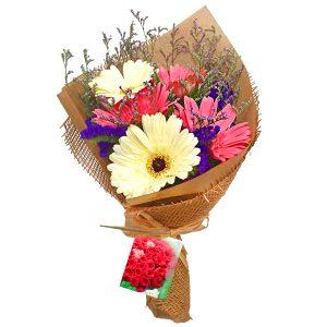 Flower Bouquet Subang Malaysia - hand bouquet Merry Daisy gerberasFlower Bouquet Subang Malaysia - hand bouquet Merry Daisy gerberas