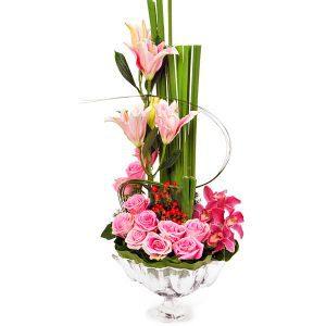 modern flower arrangements malaysia - FLORAL TALER roses cymbidium orchids stargazer lilies