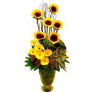 sunflower bouquets birthday malaysia - Sunburst Glamor sunflowers gerberas flower bouquet