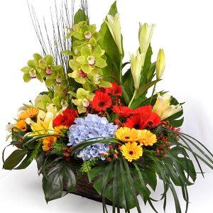 basket flower bouquet malaysia - Flora Asirvada
