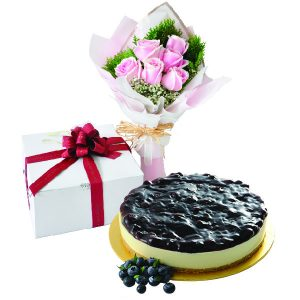 Cake Flower Combo - Blueberries Cheese, Vegetarian