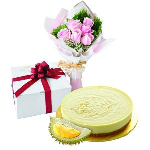 Cake Flower Combo - Golden Durian, Vegetarian