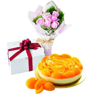 Cake Flower Combo - Peachy Rich Cheese, Vegetarian