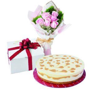 Cake Flower Combo - Sweet & Salted Caramel, VegetarianCake Flower Combo - Sweet & Salted Caramel, Vegetarian