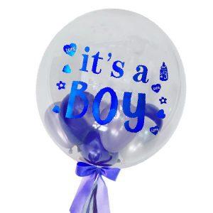 Baby Boy Globo - Bubble Balloons Malaysia Bobo BalloonsBaby Boy Globo - Bubble Balloons Malaysia Bobo Balloons