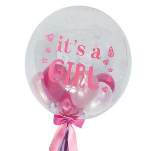 Baby Girl Globo - Bubble Balloons Malaysia Bobo BalloonsBaby Girl Globo - Bubble Balloons Malaysia Bobo Balloons