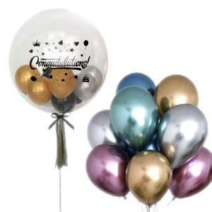 Congratulation Bubble Balloon Float - Congratulation Balloons Bouquet Malaysia